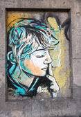 Street art by C215 — Stock Photo