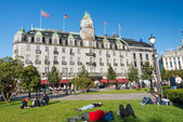 Grand Hotel in Oslo Norway — Stock Photo