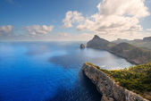 Coast at cape Formentor — Stock Photo