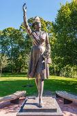 Princess Martha statue in Slotsparken Oslo — Stock Photo