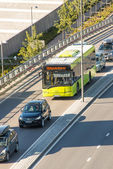 Public bus on street of Oslo — Stock Photo