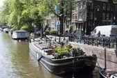Museo casa galleggiante sul canal — Foto Stock
