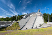 Ski jumping arena in Oslo Norway — Stock Photo