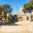 fontein in de plaza catalunya — Stockfoto