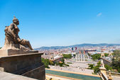 Aerial view of Barcelona — Stock Photo