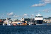 Mein Schiff 2 in Oslo Fjord harbour — Stock Photo