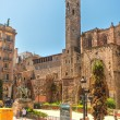 Santa Maria del Mar in Barcelona Spain - Stock Photo