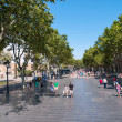 Pedestristreet in BarcelonSpain — Foto de stock #16488737