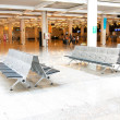 Bench at Palma de Mallorca Airport — Stock Photo
