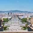 Panorama Sculpture Espanya Square — Stock Photo