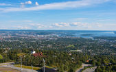 Panoramic view on downtown Oslo Norway — Stock Photo