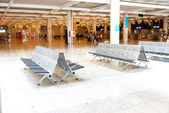 Bench at Palma de Mallorca Airport — Stockfoto