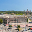 Placa De Espanya the National Museum in Barcelona — Stock Photo