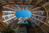 Casa Mila inside yard Barcelona Spain — Stock Photo