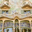 The facade of the house Casa Battlo - Stock Photo