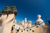 Chimney at Casa Mila Roof Barcelona — Foto Stock