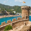 View of Tossa de Mar village from ancient castle — Stock Photo