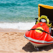Rescue jetsky on beach — Stock Photo