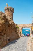 Fortress among rocks in Tossa de Mar Costa Brava Spain — Stock Photo