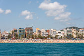 City beach of Lloret de Mar Costa Brava — Stock Photo
