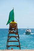 спасатель на пляже — Стоковое фото