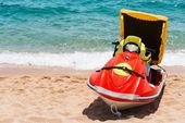 Rescue jetsky on beach — Stock Photo