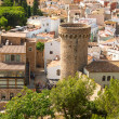 Bird view on Tossa de Mar - Stock Photo