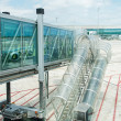 Modern glass airport ramp — Stock Photo #17664177