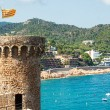 View of Tossa de Mar village from ancient castle Spain — Stock Photo