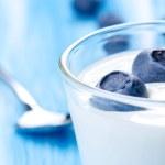 Yogurt with blueberries — Stock Photo #17841087
