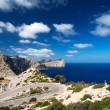 Stock Photo: Road near cape Formentor Island Spain