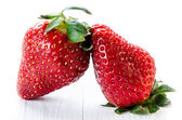 Two strawberries — Stock Photo