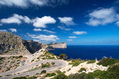Road near cape Formentor Island Spain — Stock Photo