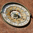 Astronomical clock on wall City Hall — Stock Photo