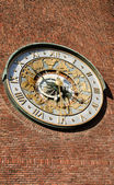 Astronomical clock on wall City Hall — Foto Stock