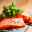 Salmon fillet ready to cook — Stock Photo #19183181