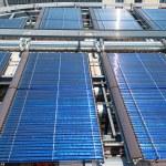 Solar water heater on roof Barcelona — Stock Photo