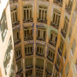 Casa Mila internal view from roof - Stockfoto