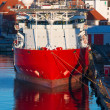 Red cargo ship — Stock Photo