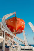 Lifeboat on a cruise ship — Stock Photo