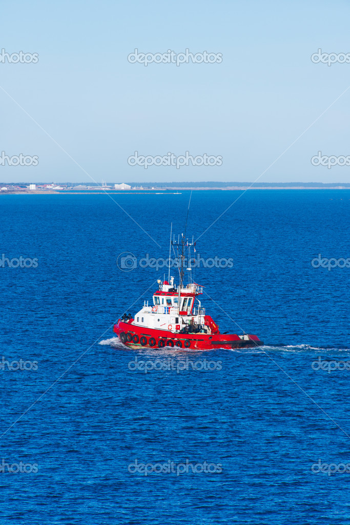 A tug boat at Skagerrak sea — Stock Photo #21179139