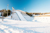 Holmenkollen ski jump in Oslo Norway — Stock Photo