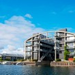 Modern flat building at Copenhagen — Stock Photo