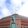 Stock Photo: Statue of admiral Niels Juel in Copenhagen