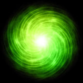 Enargy ball green spiral — Stock Photo
