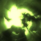 Hurricane eye yellow green — Stock Photo