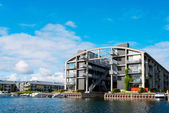 Modern flat building at Copenhagen — Stock Photo