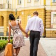 Couple walking away — Stock Photo #25842301
