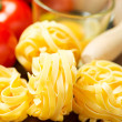Pasta ready for cooking on table — Stock Photo