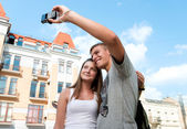 Couple take a picture together — Stock Photo